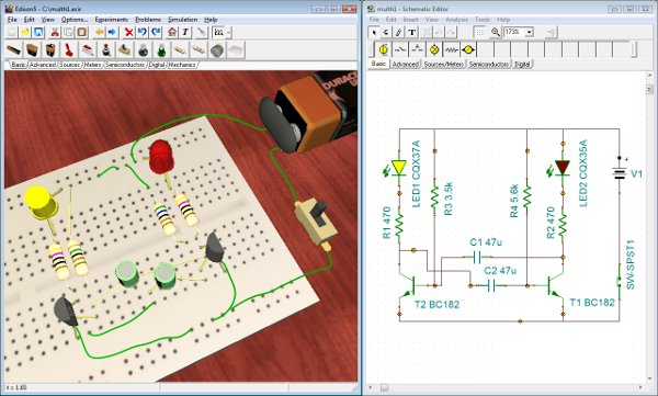 Edison the multimedia lab for exploring electronics and electricity once you have become familiar with schematic diagrams you can use edisons schematic editor and circuit analyzer compatible with the more advanced tina asfbconference2016 Images